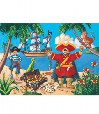 Dekoratif Puzzle 36 Parça The Pirate And His Treasure